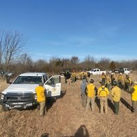 The Chickasaw Nation and Bureau of Indian Affairs partnered with The Nature Conservancy at the Pontotoc Ridge Preserve to conduct a controlled burn.