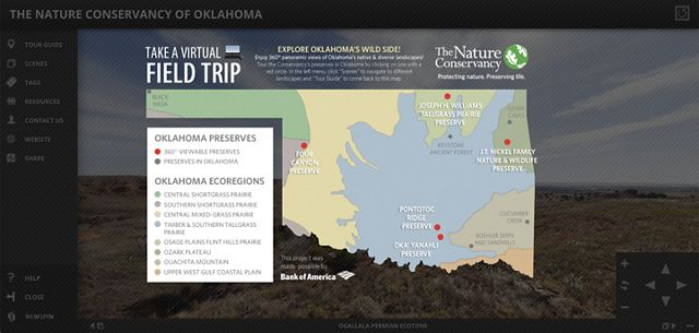 Take a virtual field trip to Oklahoma's 5 flagship preserves.