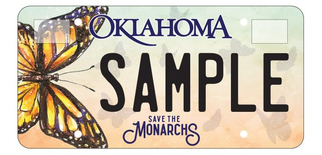 Monarch license plate designed by Bold Multimedia