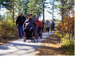 An accessible trail in the Ossipee Pine Barrens brings people of all abilities closer to nature.