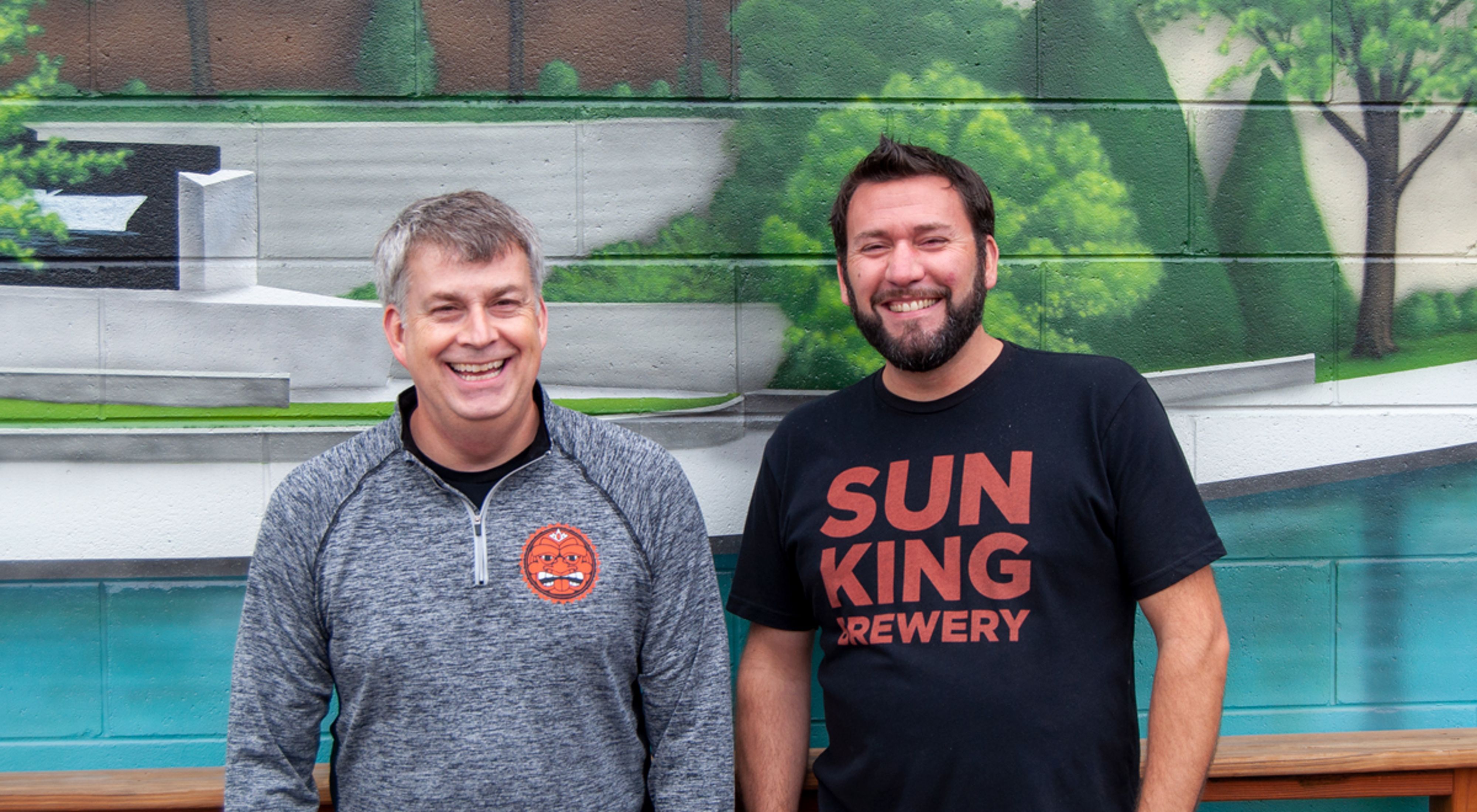 Dave Colt and Clay Robinson of Sun King Brewery