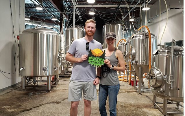 Co-founders Brendan and Bailey O'Leary at Rockville, MD's True Respite Brewing Co.