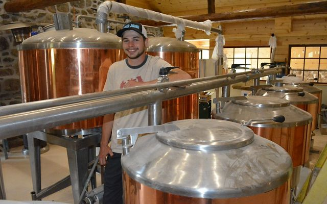 Owner Cory McCagh at work at 1812 Brewery.