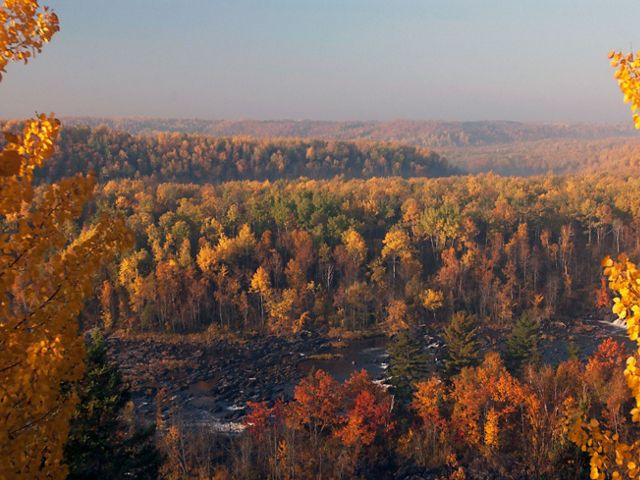 View from Oldenburg Point overlook at Jay Cooke State Park in Minnesota