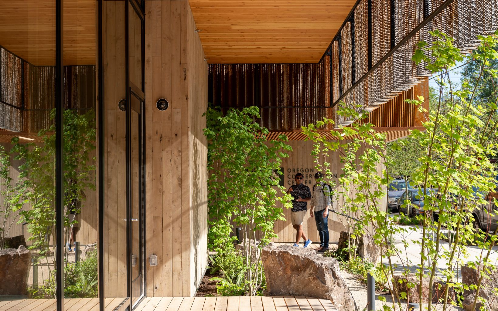 Timber for the project was sustainably sourced from regional restoration projects.