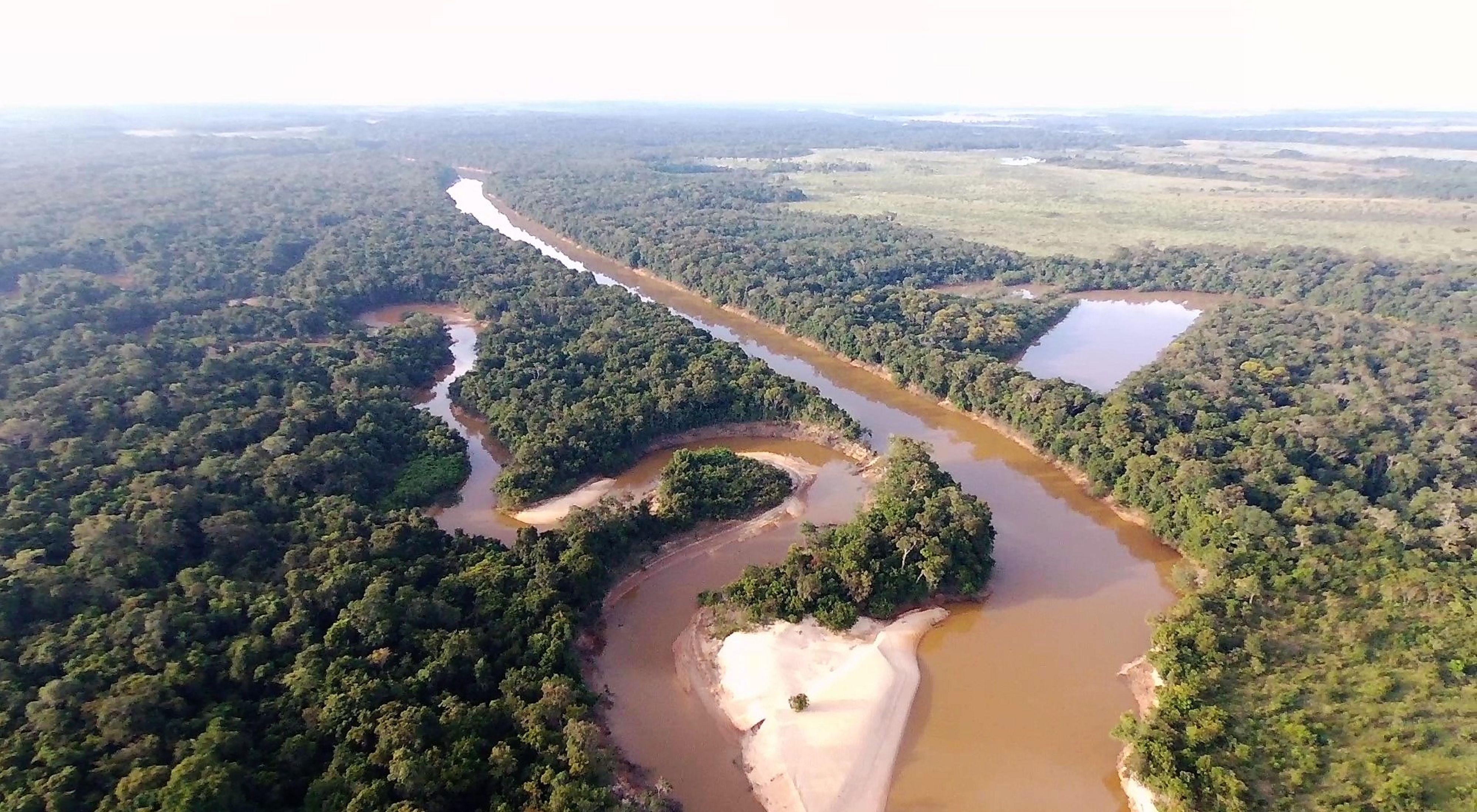Foto aérea de Manacacías, en la Orinoquia Colombiana