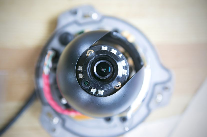 A video camera for electronic monitoring is assembled on the Dawn T fishing vessel at Saquatucket Harbor in Harwich, Cape Cod.