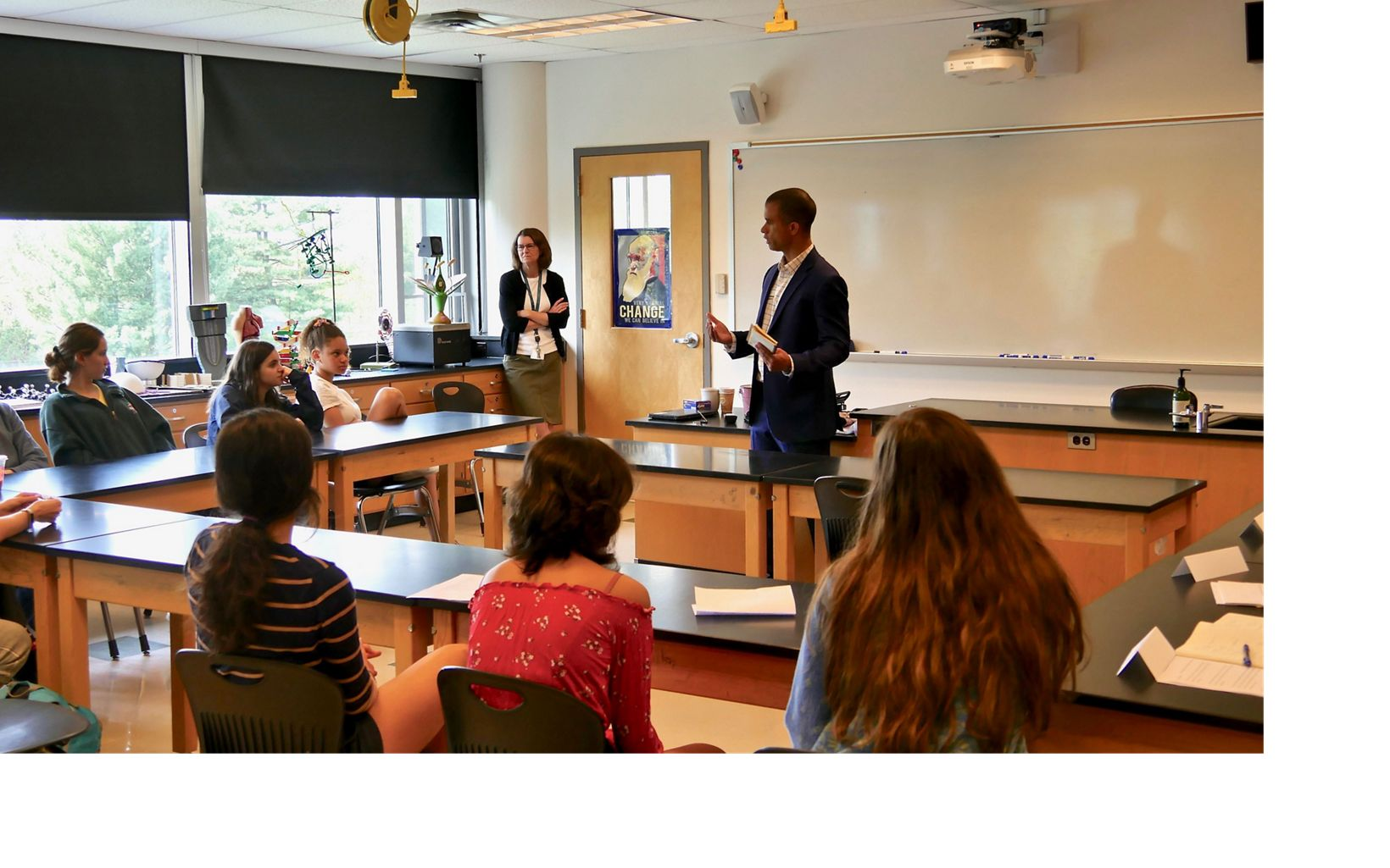 MD/DC Urban Conservation Program Director Kahlil Kettering leads an advocacy training workshop at Georgetown Day School.