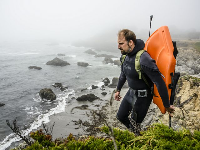 It's always a rush climbing down the cliffs to a dive site. Fort Ross is a National Historic Landmark with a protected cove that makes it perfect for divers and non-divers.
