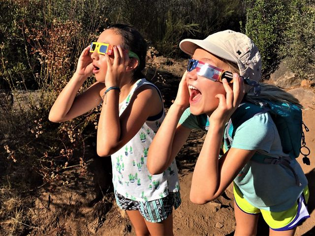 My girls love a good Eclipse. Oakoasis County Preserve, near San Diego, has great views and it's a perfect place to watch the moon pass in front of the sun.