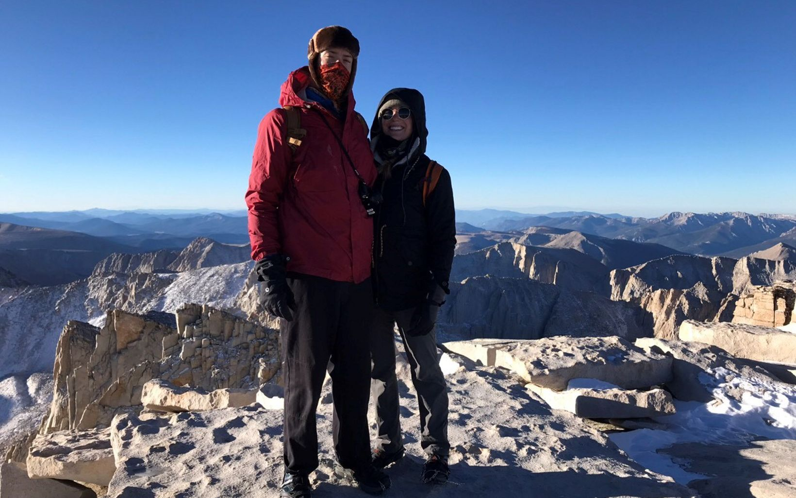 "My favorite outdoor activity is walking! Getting to the top of Mount Whitney was the hardest ""walk"" my partner and I have ever done but without a doubt the most special."