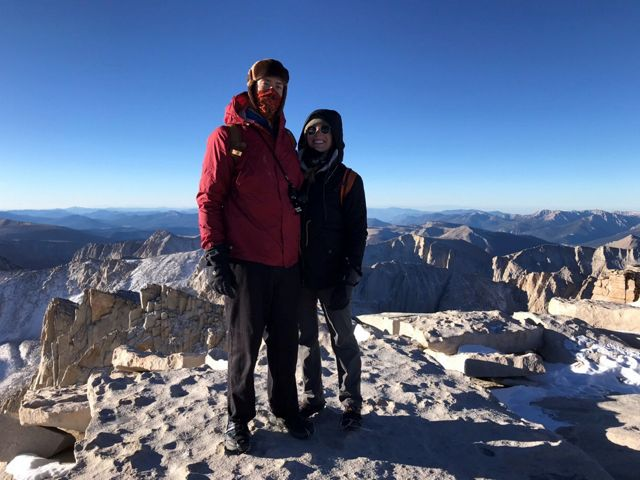 """My favorite outdoor activity is walking! Getting to the top of Mount Whitney was the hardest """"walk"""" my partner and I have ever done but without a doubt the most special."""