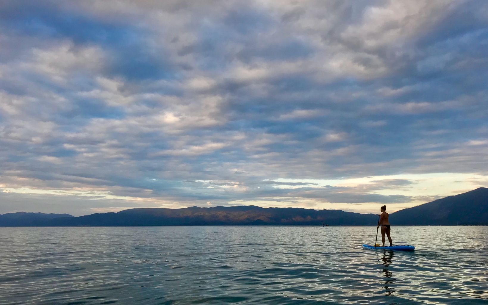Tahoe is one of my favorite places to Paddle Board. You can launch from basically anywhere along the shore, but I usually go to Kiva Beach.