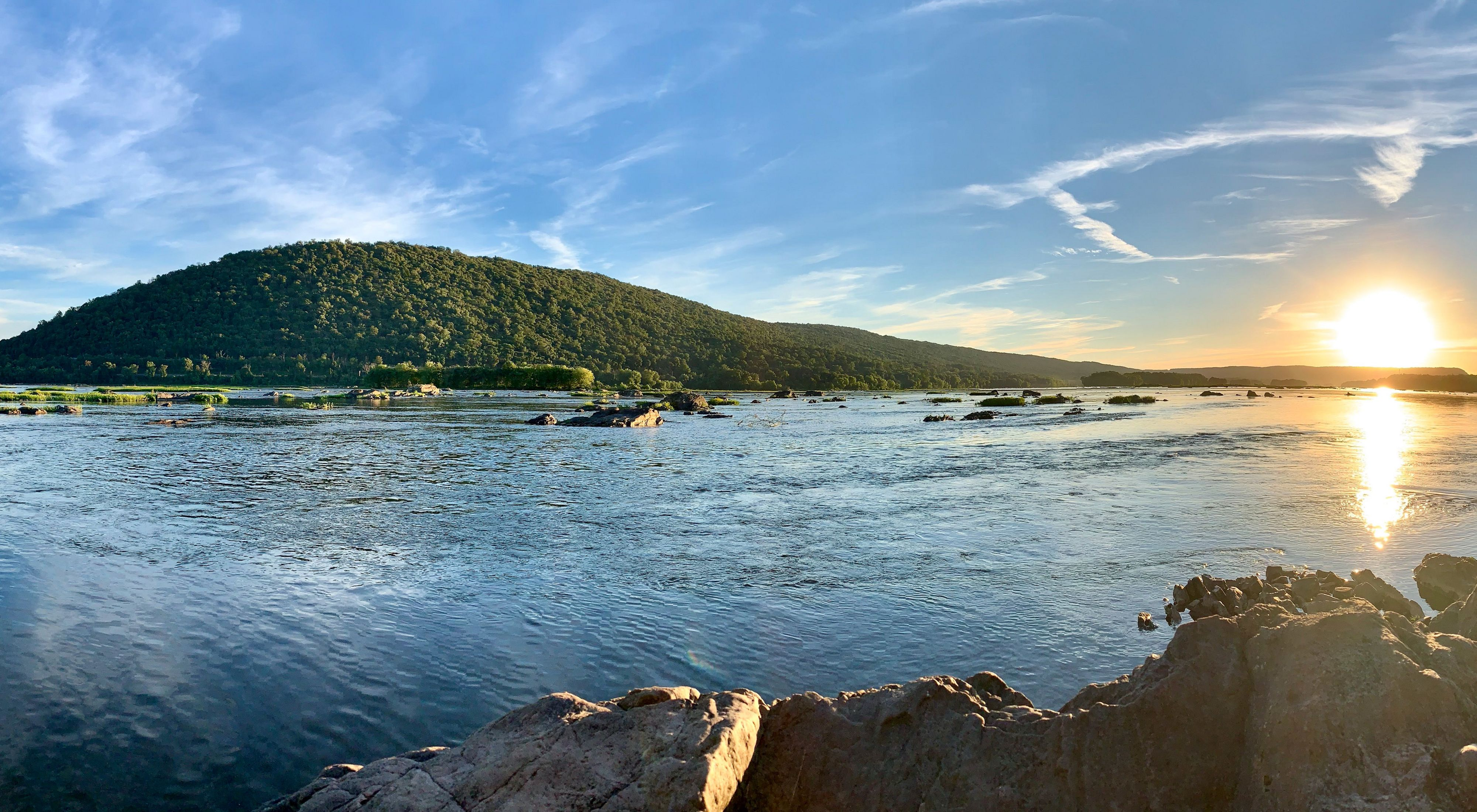 Early morning view of Cove Mountain across the Susquehanna River.