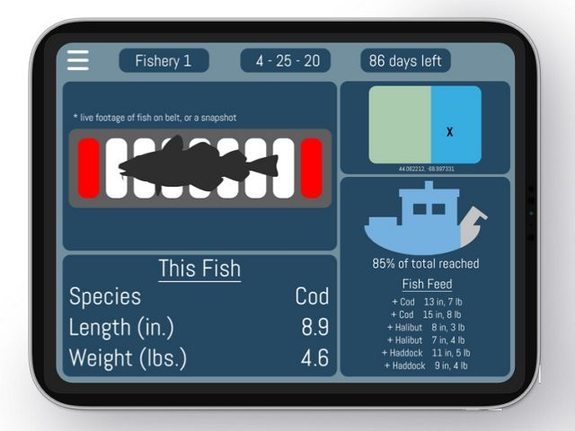 The Pisces team developed an idea for an app that would track catch based on facial-recognition technology.