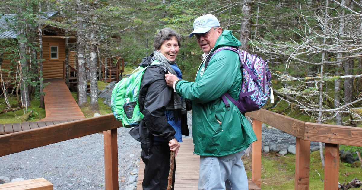 Pam and Allen Rozelle on a Legacy Club trip to Alaska.