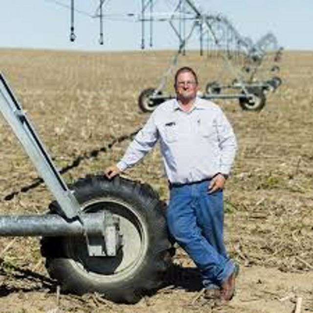 Farmer Pat Janssen uses water-saving techniques on his property near Kinsley, Kansas.