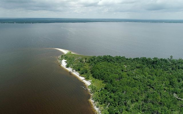 Aerial View of Pensacola East Bay Region of Florida