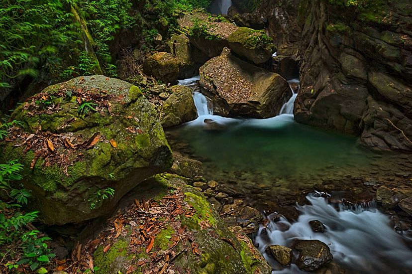 A small waterfall and stream in Wasior, West Papua.
