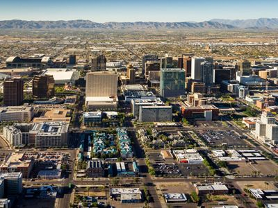 Aerial view of Phoenix, AZ