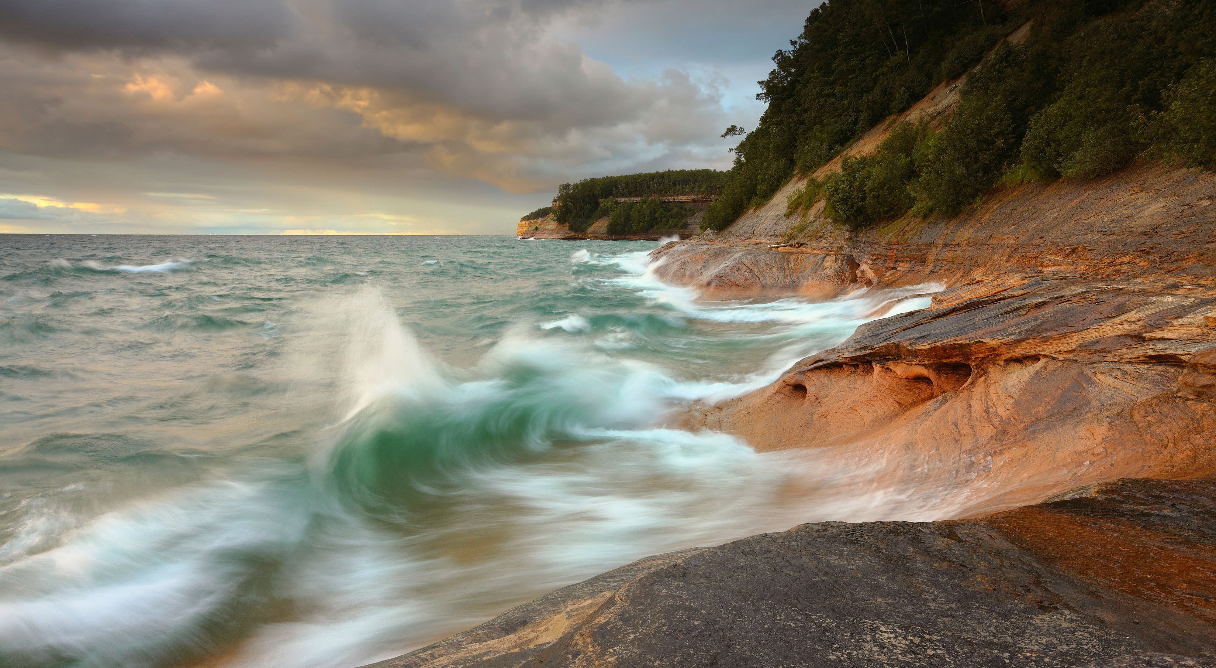 Pictured Rocks National Lakeshore on Lake Superior, Michigan