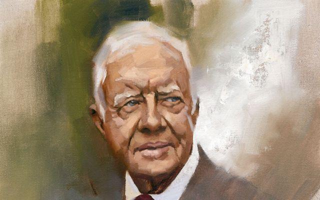 Un retrato de Jimmy Carter.