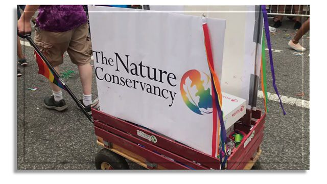 The Nature Conservancy Pride ERG at Washington DC's Pride Parade.