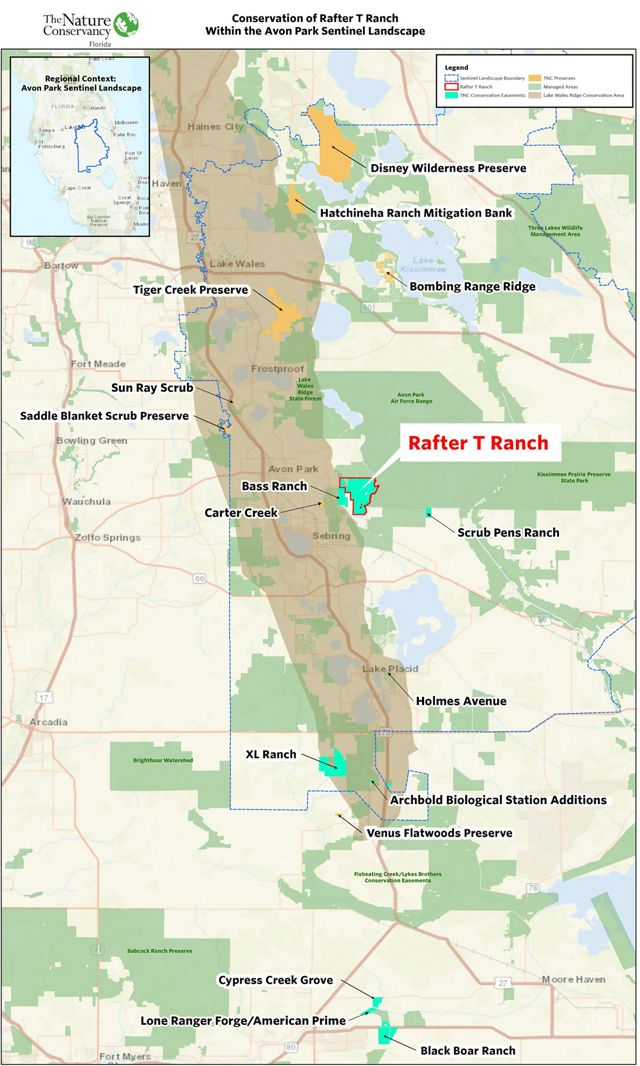 Rafter T Ranch Map of Area