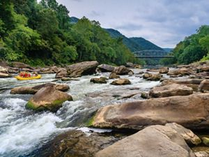 Rafters at this popular West Virginia spot, which was protected thanks to the Land and Water Conservation Fund.
