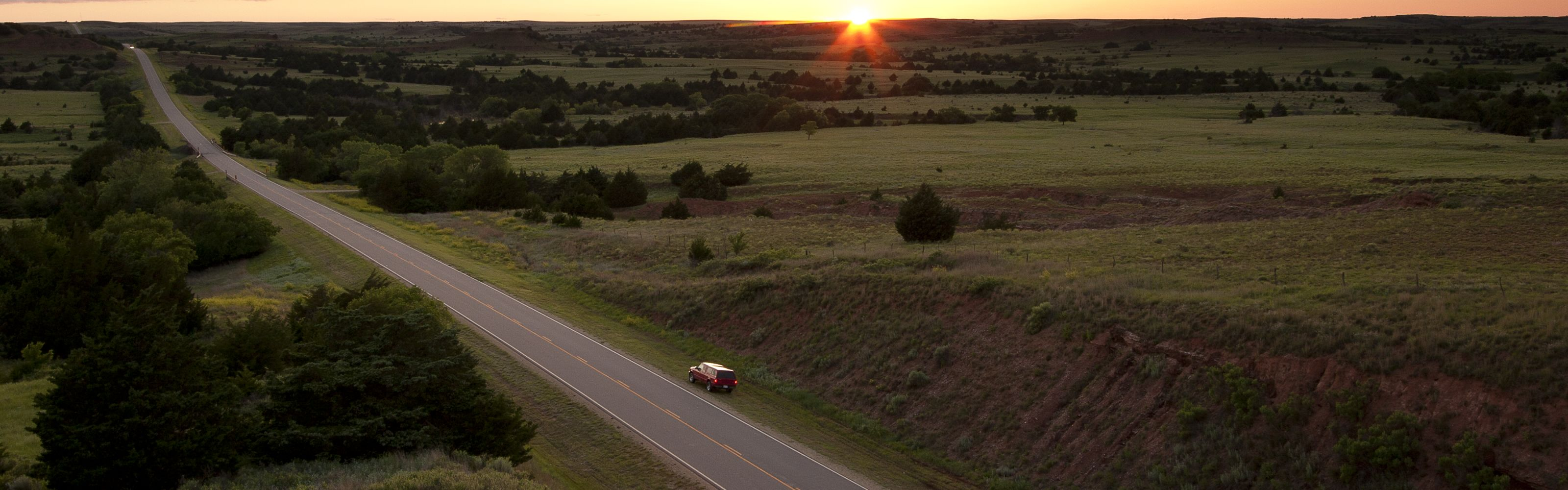 Explore the beauty of the Red Hills by taking a trip on the Gyp Hills Scenic Byway.