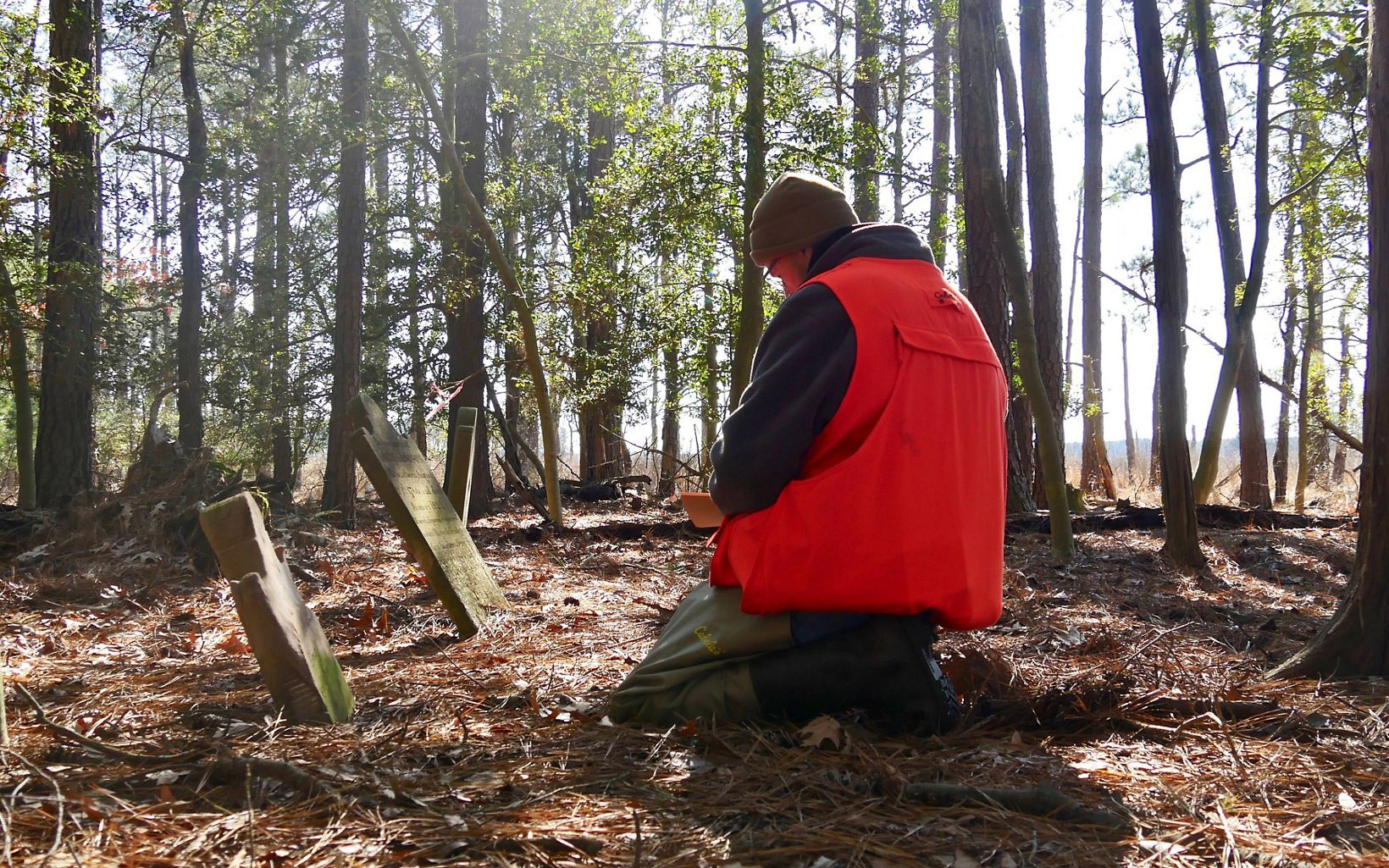 Not wanting to see this site completely lost to history, lifelong Eastern Shore resident and TNC project manager Joe Fehrer collects data for the MD Historical Trust.