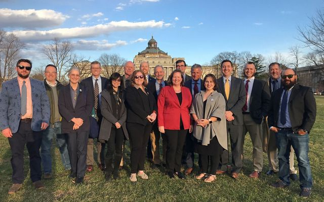 Photo of SGCC members at the Library of Congress during Lobby Day 2019.