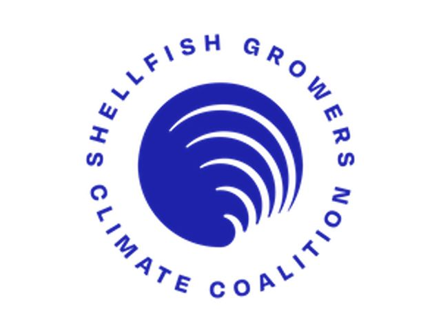 Logo for the Shellfish Growers Climate Coalition.