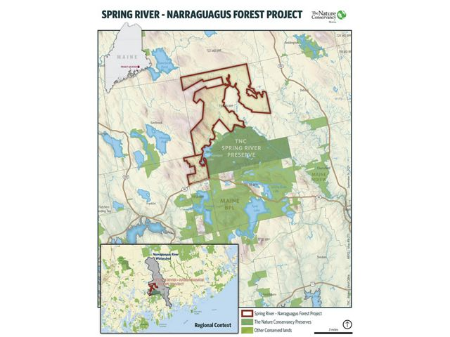 Map of spring river project area