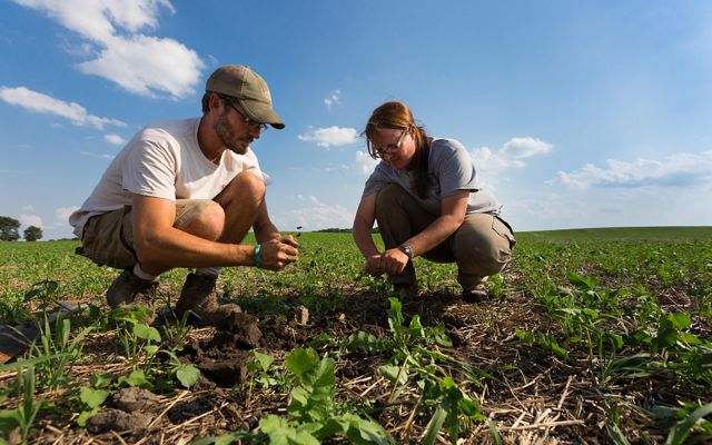 Sarah Delbecq, a sixth-generation farmer in Indiana, and her husband, Benoit, are among a growing movement of farmers who are exploring conservation practices on their land.