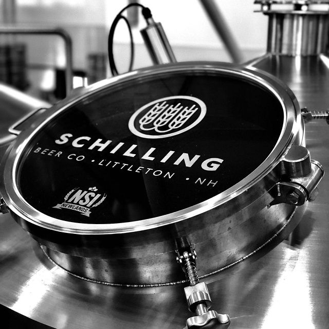 Brew tanks at Schilling Beer Co. in Littleton, NH