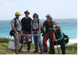 Hurricane recovery crew on St. Croix, USVI