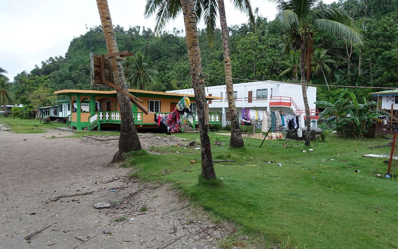 Storm damage in Chuuk