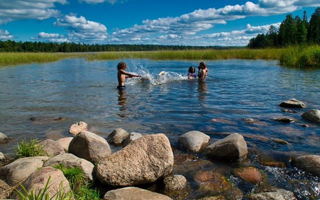 Swimming in headwaters