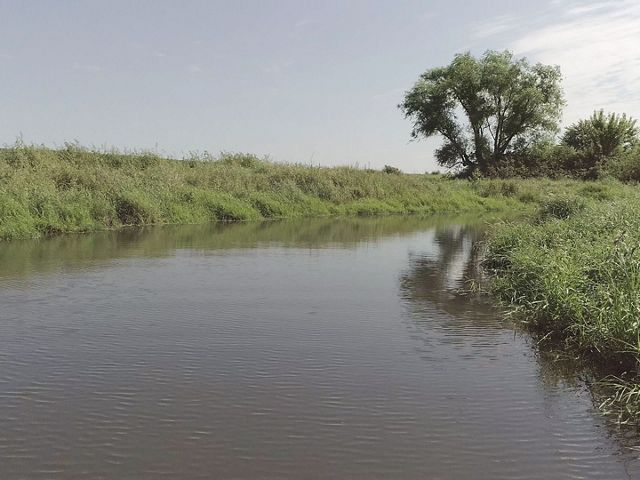 Restored oxbow wetland in Iowa's Boone River Watershed