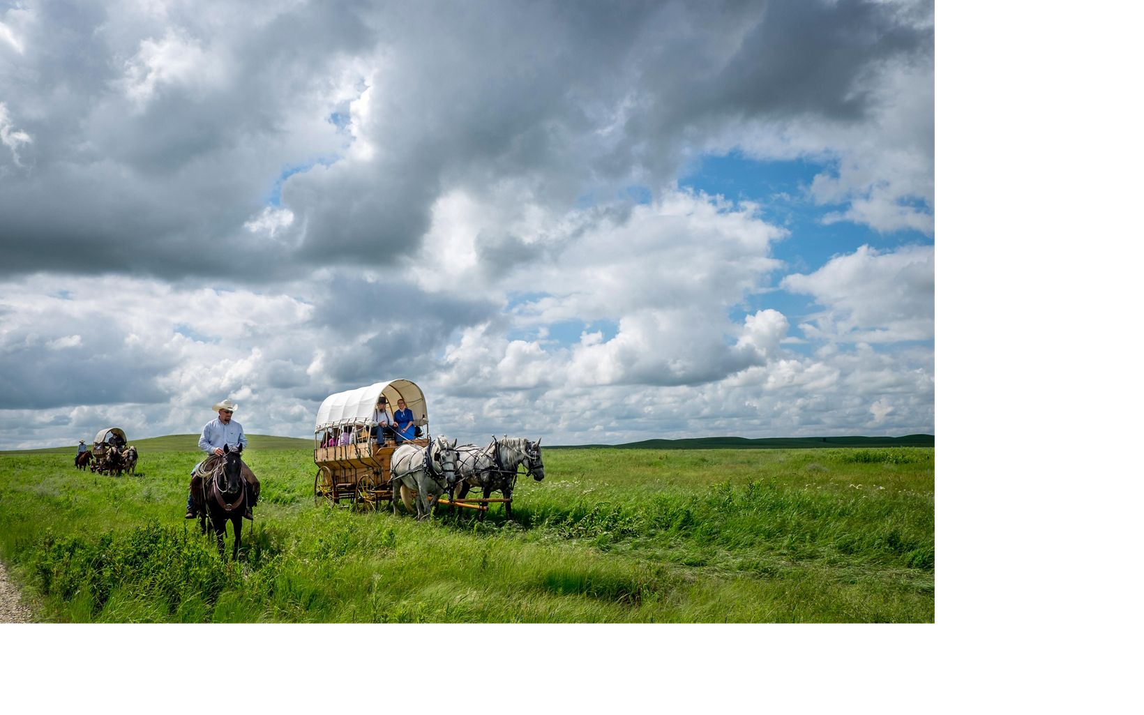 Guests make a day of visiting the prairie. It starts with a wagon ride or hike from the parking lot, followed by art exhibits, music, natural-history talks, and hiking.