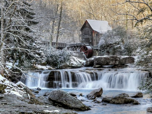 Grist mill in West Virginia's Babcock State Park near the end of winter. This photo was entered into The Nature Conservancy's 2018 Photo Contest.