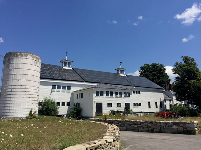 Adorned with panels on the roof, Throwback is New Hampshire's largest solar-powered brewery.