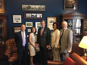 Ohio staff and trustees with Representative Mike Turner