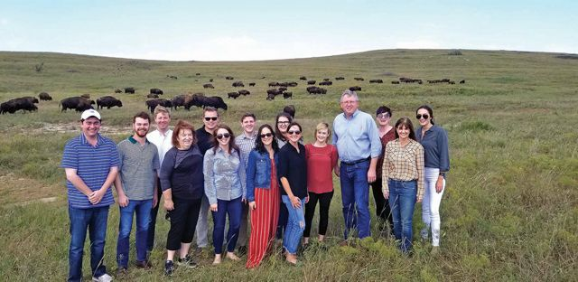 US Rep. Frank Lucas and his staff visit the Tallgrass Prairie Preserve.