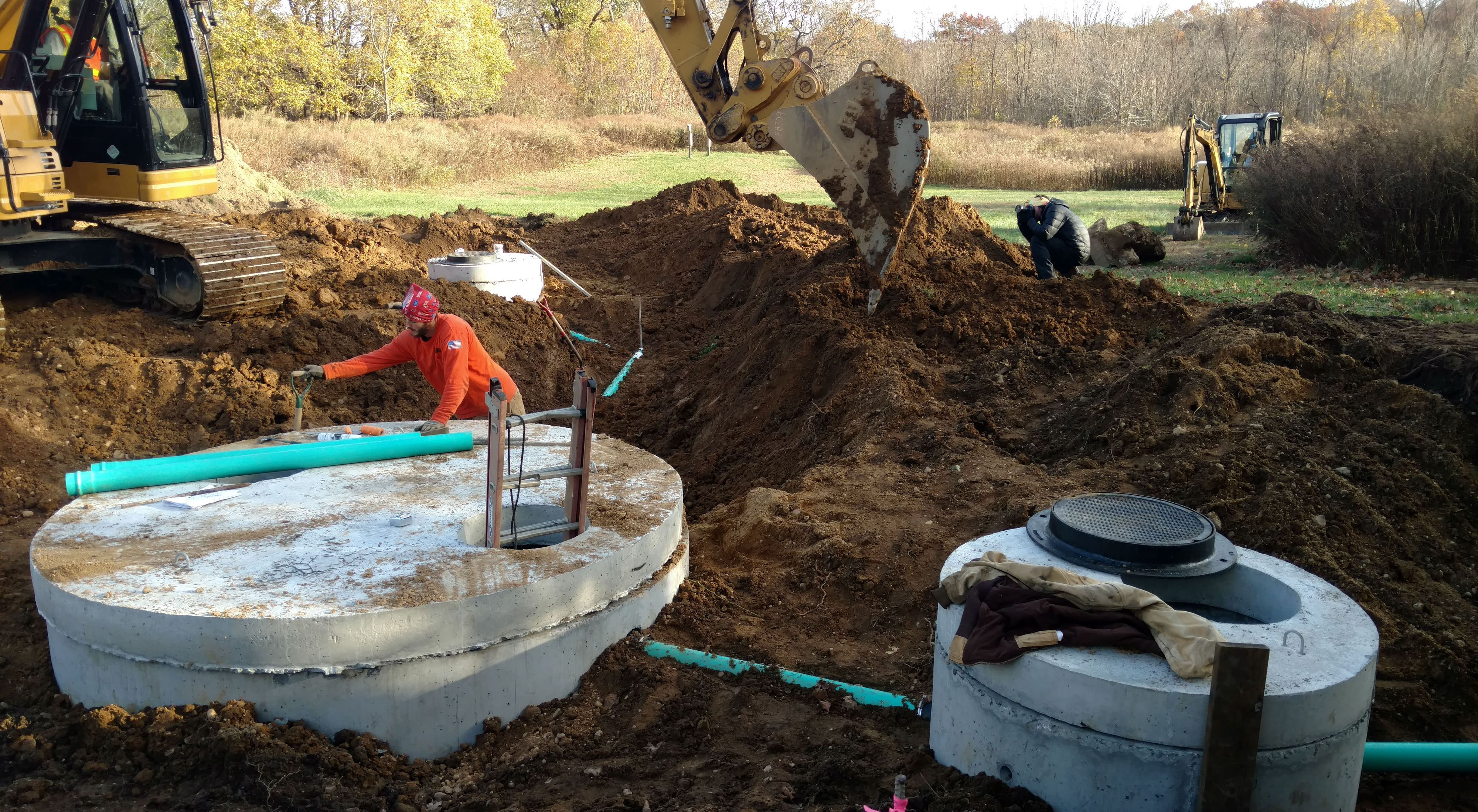 Breaking ground on a project to improve Long Island's water quality