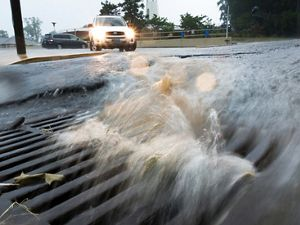 Stormwater pollution is caused when rainwater falls on impervious surfaces where it mixes with pollutants before flowing into our cities' sewer systems and rivers.