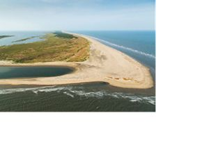 Aerial view of Hog Island, Virginia