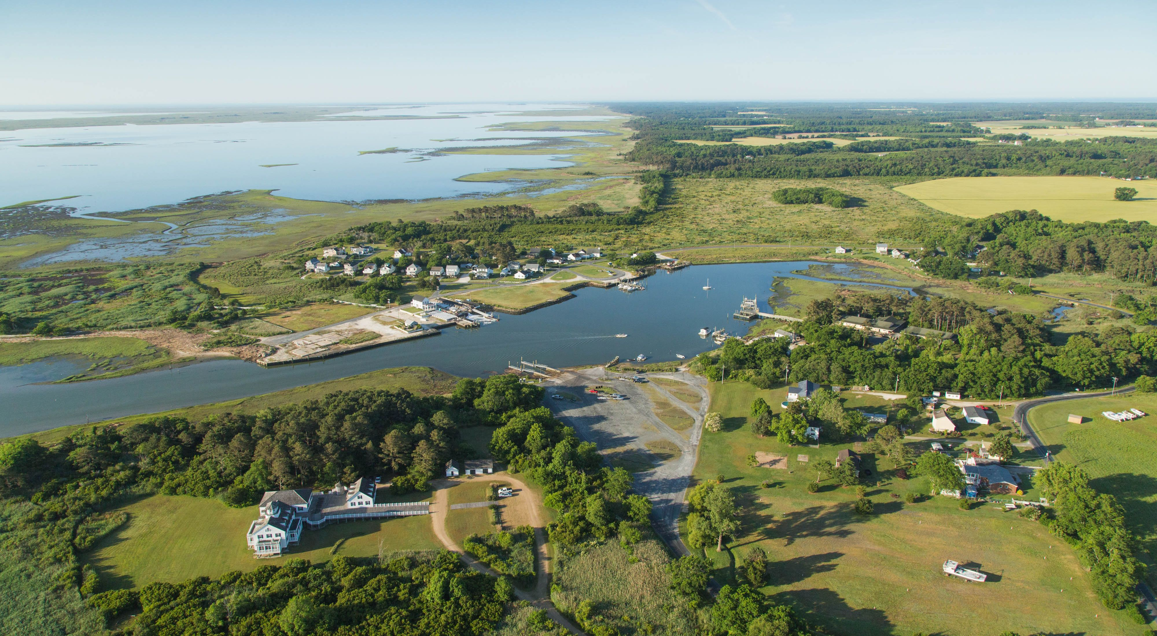 Aerial view as seen during a survey flight of the Virginia Coast Reserve barrier islands.