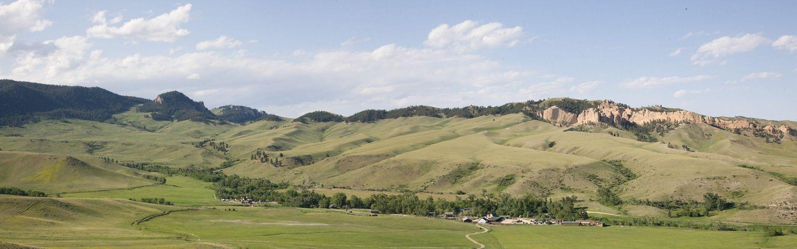 View of HF Bar Ranch. Johnson County, Wyoming. June 17, 2012.